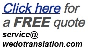 Free Document Translation Quote