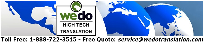 High technology translation services